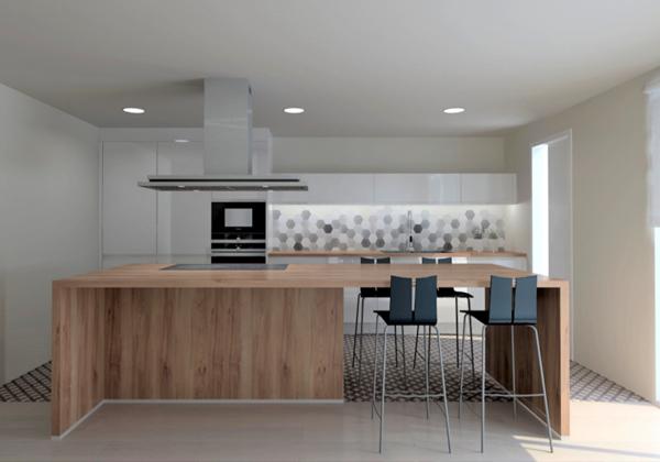 cocina diseño madera